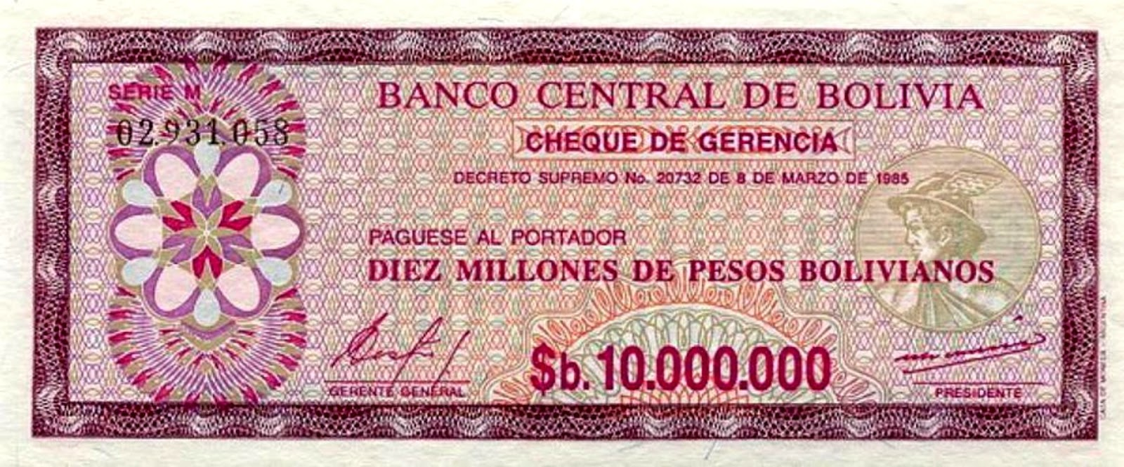 bolivia hyperinflation
